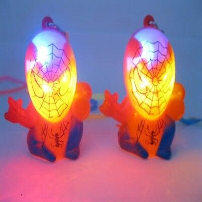 60 Flashing Spider-Man Spiderman Necklaces For Disco Party