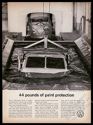 1961 VW Kombi bus photo in factory paint vat 44 Pounds Protection Volkswagen ad