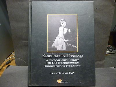"""Vintage 2003, Hardcover Photographic History Book on """"Respiratory Disease""""1800's"""