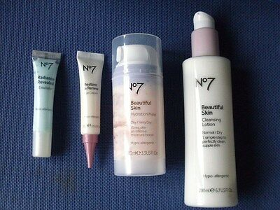 No 7 BEAUTY PRODUCTS. HYDRATION MASK & EXFOLIATOR & EYE CREAM,  FREE : CLEANSER