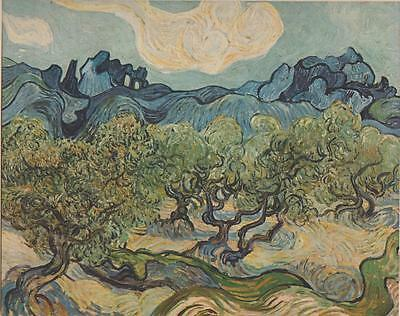 Vincent van Gogh Landscape With Olive Trees 1889 Art Print From Book