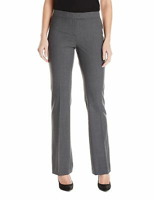 Anne Klein NEW Gray Women's Size 8 Bootcut Front-Tab Solid Dress Pants $79 #111