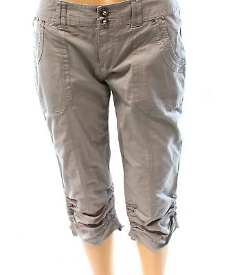 INC NEW Gray Sky Women's Size 4 Curvy-Fit Ruched Capri Casual Pants $59 #109