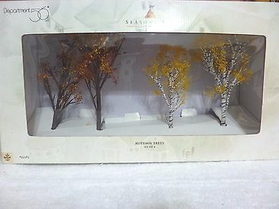 Dept 56 Seasons Bay Autumn Trees Set of 4 - 53383