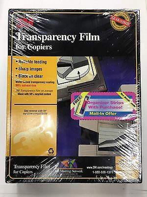 3M PP2500 Lot of 3 x 100 Transparency Film For Copiers 300 Sheets 8½ x 11 New