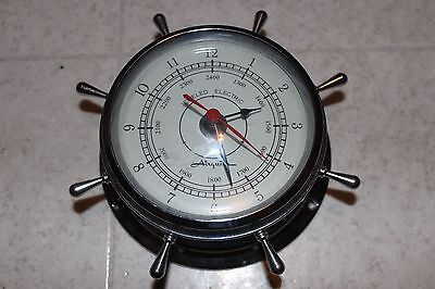 Airguide Ship's Clock  Chrome Finish with Spokes Jeweled