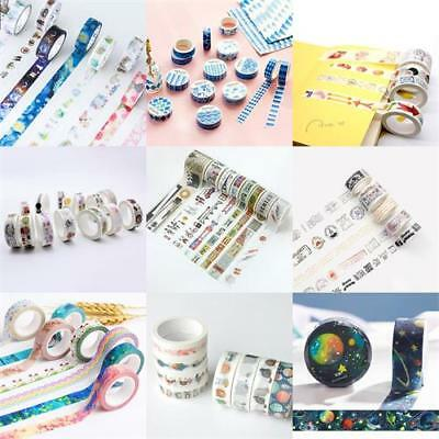 Vintage Postmark Washi Paper DIY Masking Adhesive Tapes Stickers Scrapbook Dec