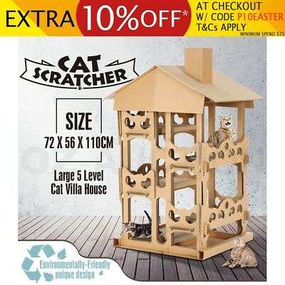 Cat Scratching Post Tree Furniture Tall 5-Level Large House Tower Climbing Frame
