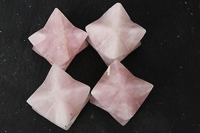1476g RARE NATURAL rose Quartz Crystal Carved Star anise Healing &#c19