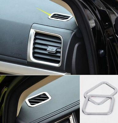 For Toyota Highlander 2015 2PCS Chrome Air Conditioning vents Border Cover Trim