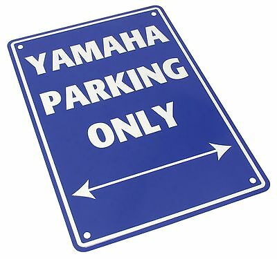 Metal Yamaha only parking sign motorcycle