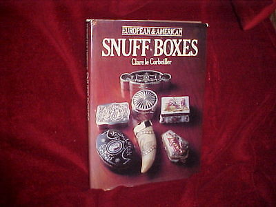 American & European Snuff Boxes!--Collector's Bible! Detailed! Hard To Find! Oop