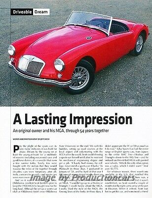 1958 MG A MGA Original Car Review Report Print Article J829