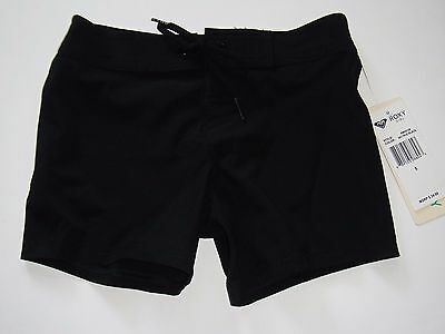 Roxy Girl Size 5 Board Swim Shorts Black New Nwt
