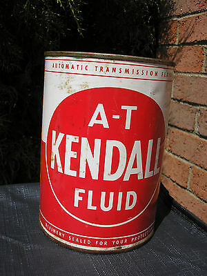 vintage Kendall A-T Fluid  metal quart oil can - late 1950's