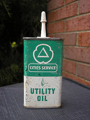 vintage Cities Service Utility Oil handy oil can - 1950's