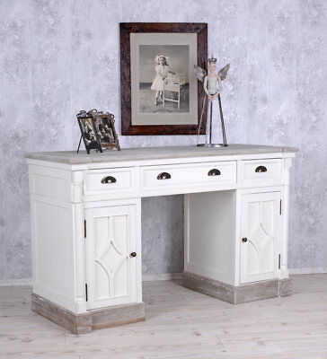 Desk in Country House Style White Office Table Computer Desk