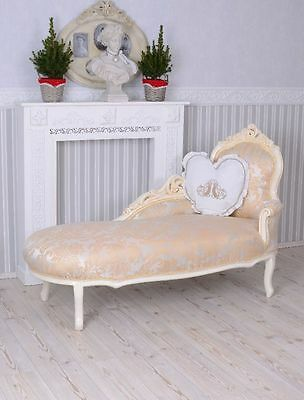 Vintage Sofa Rococo recamiere Chaise Longue Shabby Chic Lounger Baroque