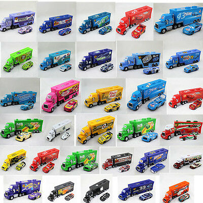 Hot!Disney Pixar NO. Number Cars King McQueen MACK HAULER Truck Kid Toy New