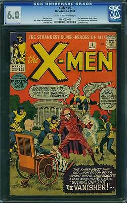 X-Men # 2  Nothing can stop the Vanisher !  CGC 6.0 scarce book !