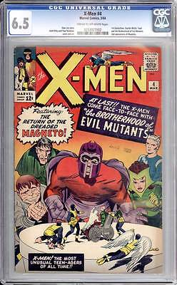 X-Men # 4  1st app. of Quicksilver & the Scarlet Witch !  CGC 6.5 scarce book !