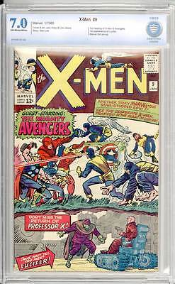 X-Men # 9  In Battle with the Mighty Avengers !  CBCS 7.0 scarce book !