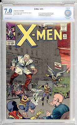 X-Men # 11  1st appearance of the Stranger !  CBCS 7.0 scarce book !