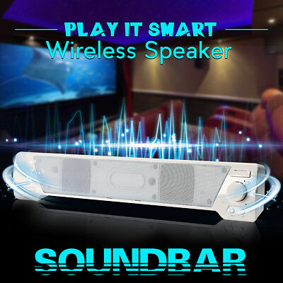 Wireless Indoor Outdoor Sound Bar Speaker Bluetooth Stereo AUX TF Card For TV PC