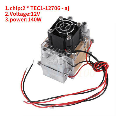 2 Chip 140W Semiconductor Refrigeration Air Cooling Water-cooled Device HighQ DY
