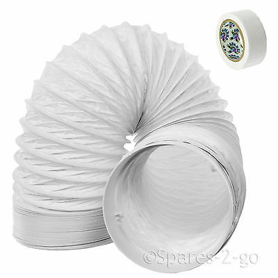 """3m Vent Hose Pipe PVC Duct 5"""" Extension for LG Air Conditioner Conditioning Unit"""