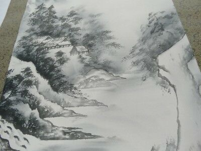 Art Sale : printed Chinese Water Colour landscape Scroll China 3rd Quarter 20th