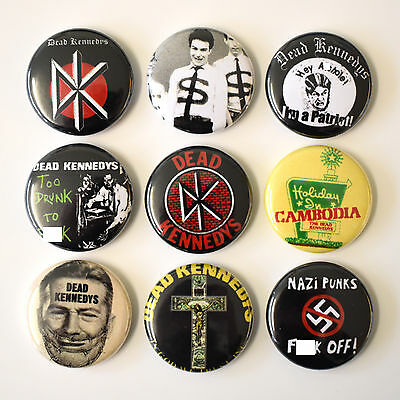 DEAD KENNEDYS Punk Badges Buttons Pin Set Lot x 9 One Inch 25mm
