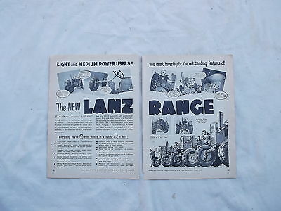 New Lanz Tractor Advertisement from 1953 Farming Magazine