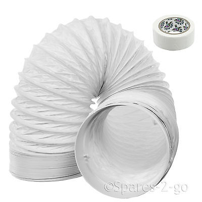 """3m Vent Hose PVC Duct 5"""" Extension for Hotpoint Air Conditioner Conditioning"""