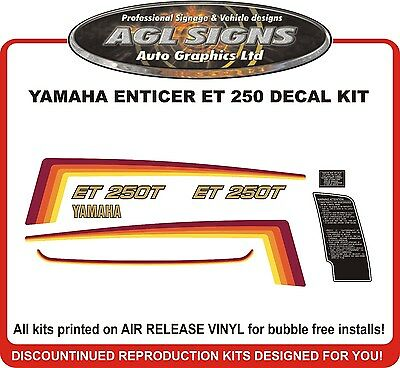 YAMAHA ENTICER  ET 250 SNOWMOBILE DECAL KIT  reproductions graphics