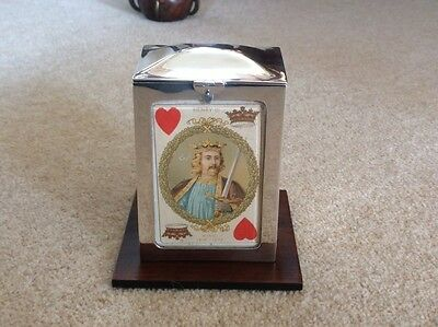 Rare Antique Silver Playing Card Box.