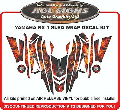 YAMAHA RX1 SKULL FLAME SLED WRAP     DECAL  STICKER  rx-1