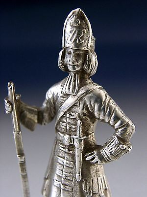 Cast Solid Sterling Silver Red Coat Soldier Figure Us Revolution War Military