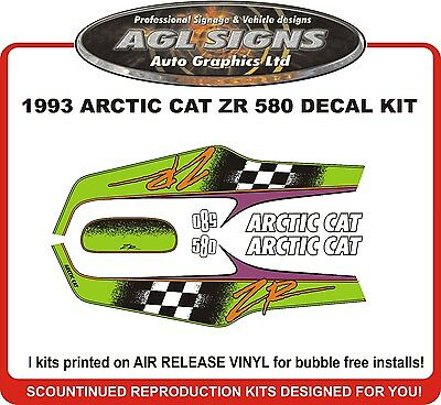 1993  ARCTIC CAT ZR 580 DECAL KIT   graphic REPRODUCTIONS