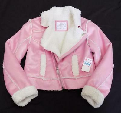 New Girls JUSTICE Size 5 Fall Winter Pink Serpa Coat Jacket JUSTICE CLOTHES