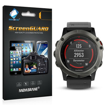 3 x Clear HD LCD Screen Protector Film Foil Saver For Garmin Fenix 5X (51mm)