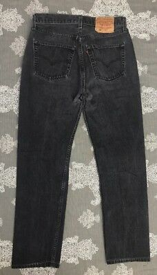 Vtg 90s Levis 501 WOMEN Jeans High Rise Straight Leg 31x34 - 29x30 Faded Black M
