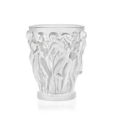 Lalique Bacchantes Vase #10547500 Brand New In Box Frosted Crystal Nude Women Fs