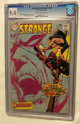 Strange Adventures #208 Cgc 9.4 Near Mint 1968 Deadman Ow-White Pages