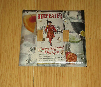 Vintage Style Beefeater London Distilled Dry Gin 2 Hole Light Switch Cover Plate