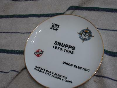 Snupps KGE Union electric wolf creek Power Plant Plate, Kansas
