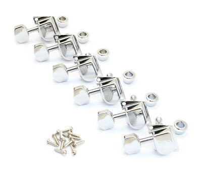 Genuine Fender 70's F-Style LEFTY, Left-Hand Tuners/Machines/Tuning Pegs, CHROME