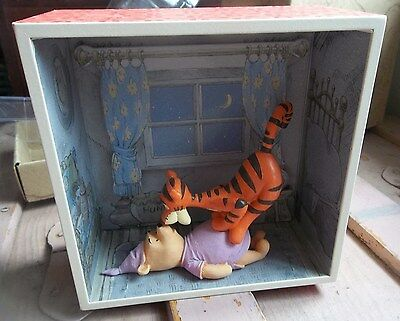 POOH MEETS TIGGER Winnie The Pooh HUNDRED ACRE WOOD Shadow Box new in box