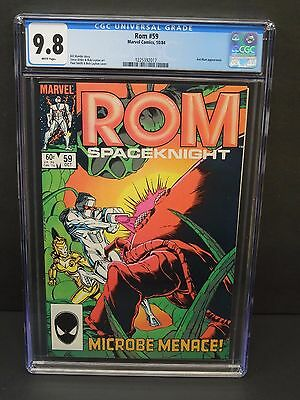 Marvel Comics Rom Spaceknight #59 1984 Cgc 9.8 White Pages Ant-Man Appearance