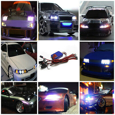 GT POWER Simulation12 LED Flashing Head Light Lamp System on RC 1/10 Toys Car